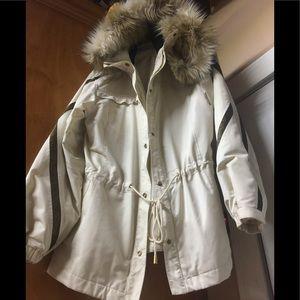 St. John Sport Jacket with detachable fur hoodie